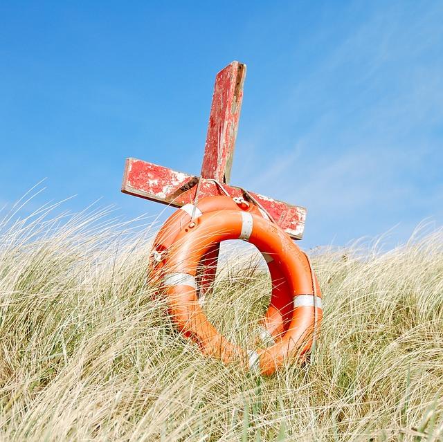 Cross, Saved, Beach, Ring, Blue Beach, Blue Cross