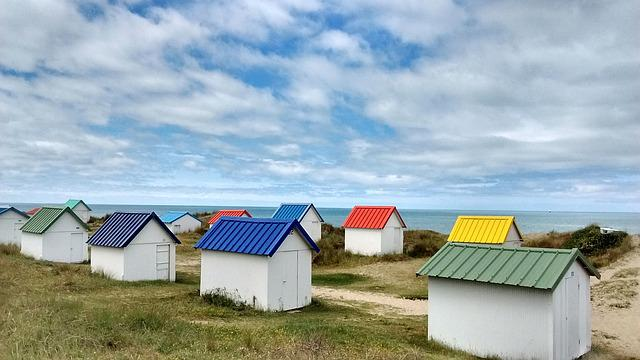 Cabin, Beach, Holiday, Blue, Calm, Cloud, Ocean, Sky