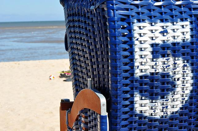 Beach Chair, Beach, Summer, Five, Number, Sea