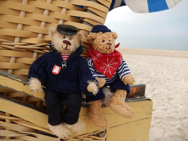 Baltic Sea, Beach Chair, Teddy Bears, Teddies, Sailors