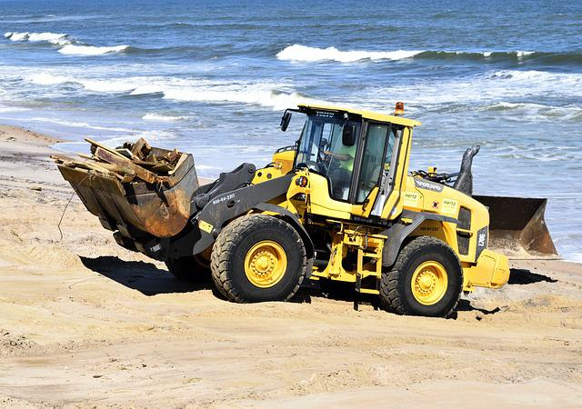 Hurricane Matthew, Tractor, Beach Clearing, Beach