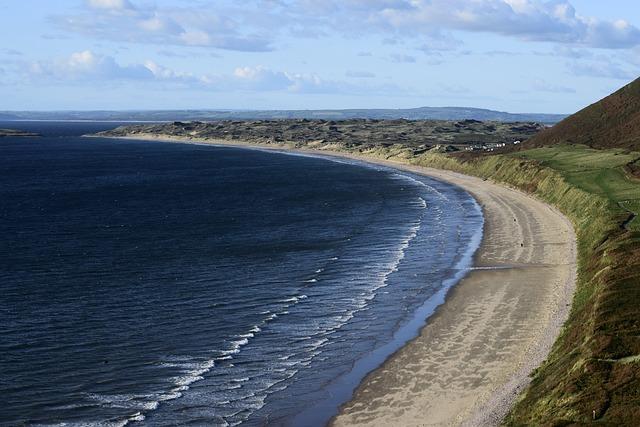 Gower, Wales, Swansea, Rhossili, Sea, Coast, Beach