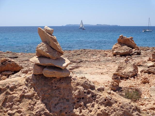 Beach, Cala, Landscape, Costa, Sand, Blue Water, Summer
