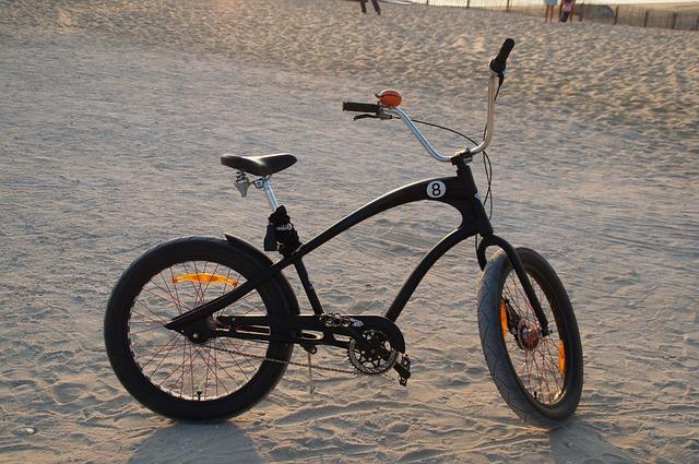 Bike, Beach Cruiser, Wheel, Biscarrosse, Atlantic, Dune