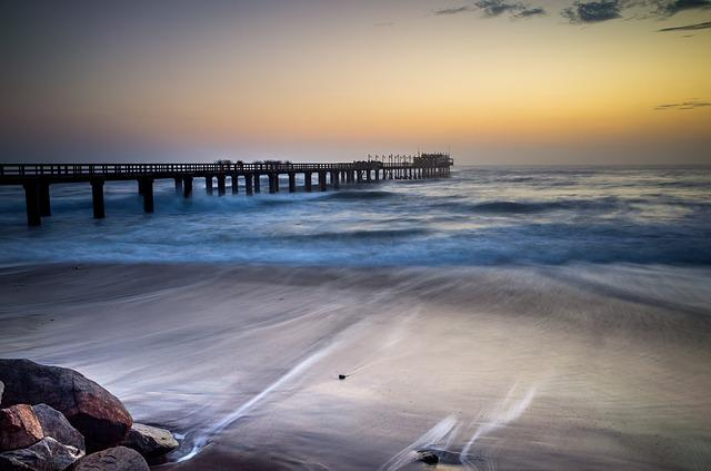 Beach, Dawn, Dock, Dusk, Horizon, Landscape, Light