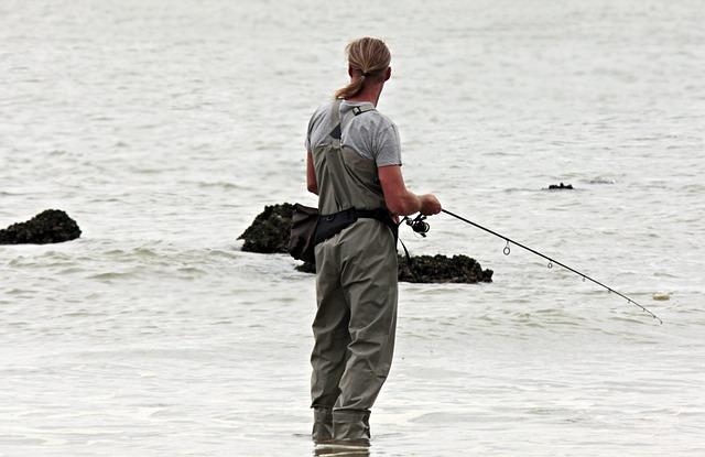 Angler, Fish, North Sea, Waters, Fischer, Sea, Beach