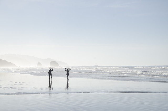 Beach, Coast, Foggy, Mist, Ocean, Outdoors, People, Sea