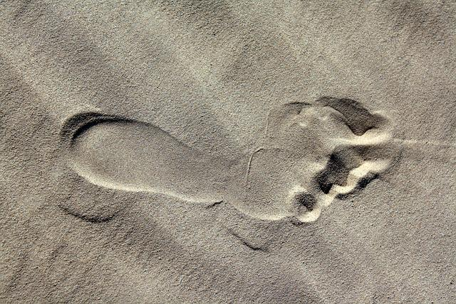 Footprint, Sand, Beach, Barefoot, Footstep, Journey