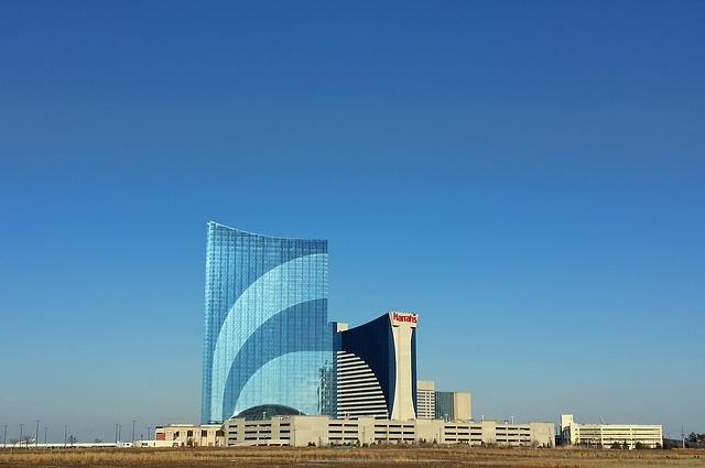 Atlantic City, Harrahs, Casino, Gambling, Beach, Ocean