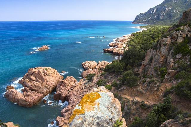 Sea, Beach, Sardinia, Porphyry, Holiday, Summer