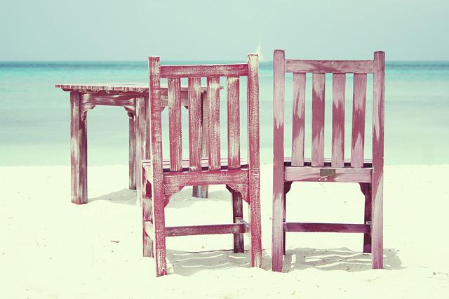 Beach, Chairs, Sea, Summer, Holiday, Rest, Peaceful