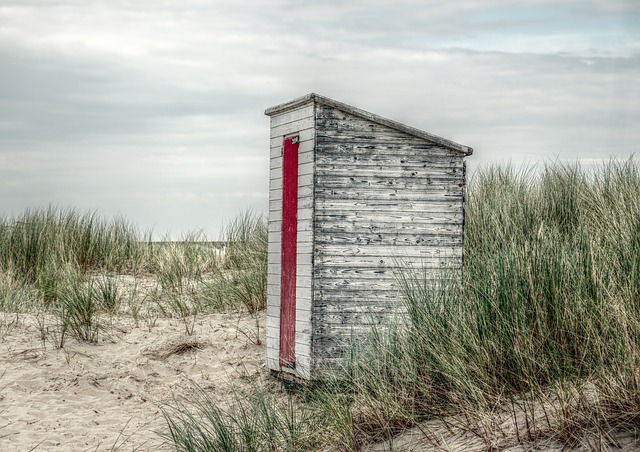 Beach House, Beach, Breskens, Holland, Beach Hut, Coast