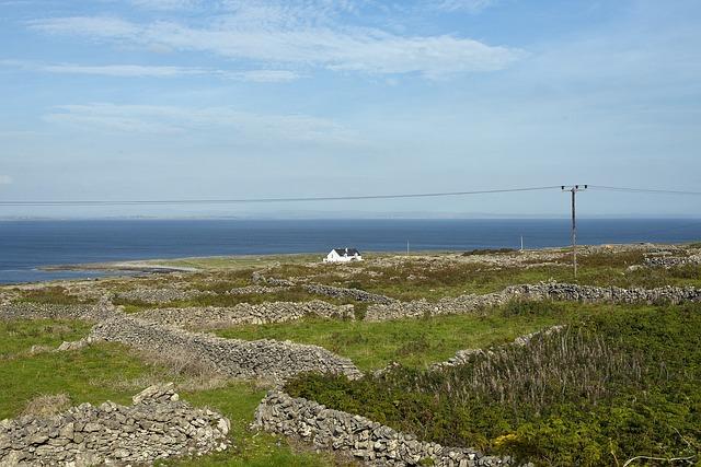 House, Aran Islands, Beach, Stone Wall