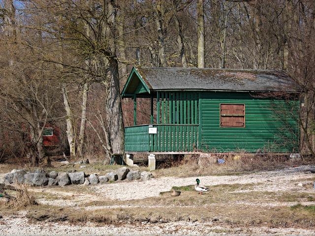 Beach Hut, Vacation, Log Cabin, Hut, Beach, Bank
