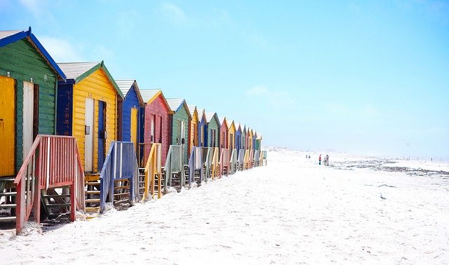 Beach, Beach Huts, Colorful, Colourful, Facade, Houses