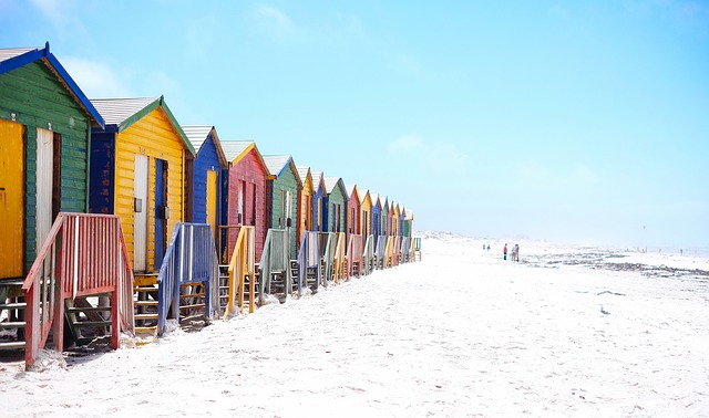 Beach, Beach Huts, Colorful, Colourful, Facade, Houses