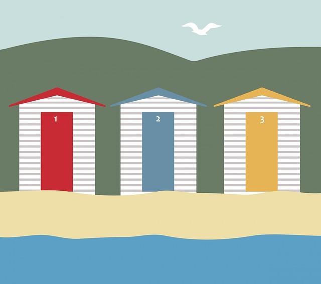 Beach Huts, Beach Houses, Beach, Hut, Sand, Vacation