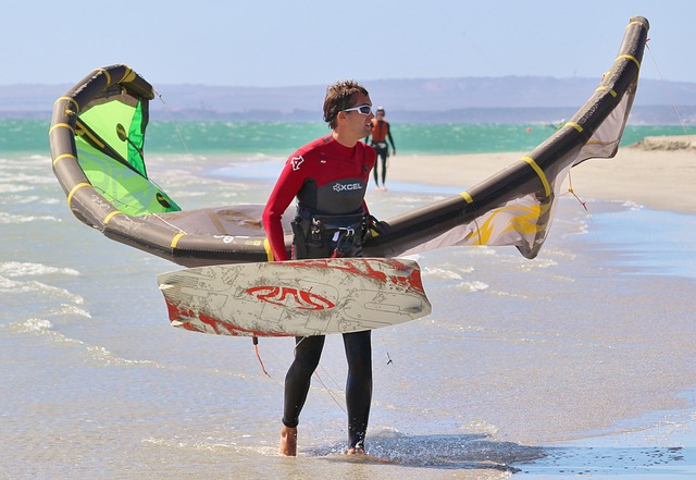Kiting, Water Sports, Hobby, Fly, Beach, Sea, Colorful