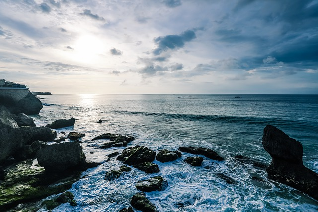 Sea, Rock, Beach, Ocean, Sunset, Coast, Rocks, Lake