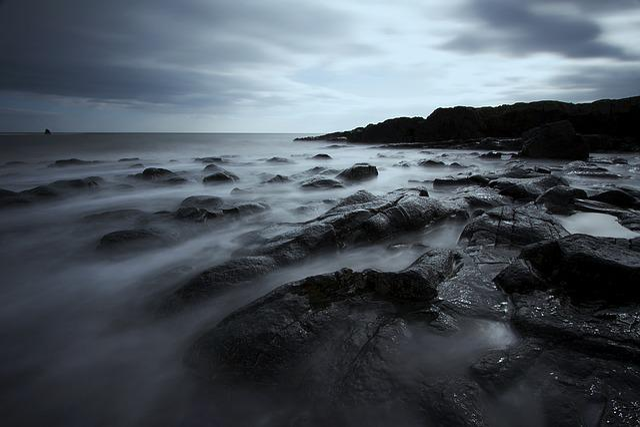 Rocks, Sea, Long Exposure, Landscape, Beach, Ocean