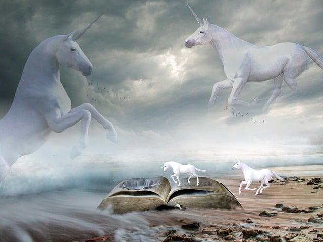 Unicorns, Sea, Landscape, Beach, Wave, Nature, Sky