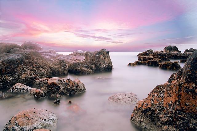 Beach, Water, Stones, Long Exposure, Vietnam, Haze, Sea