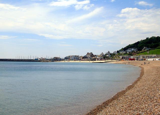 Beach, Jurassic, Coast, Lyme, Regis, England, Devon