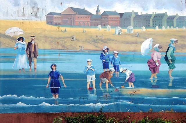 Tréport, Normandy, Mural, The Sea, Maritime, Beach