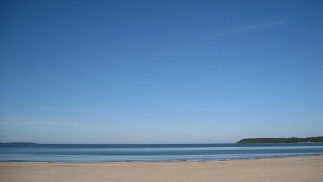 Yyteri, Pori, Beach, Landscape, Sky, The Skyline, Sea