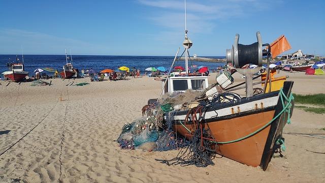 Fishermen, Beach, Punta Del Diablo, Rocha, Uruguay