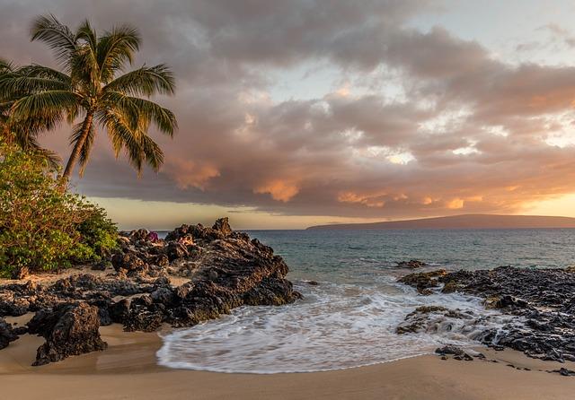 Beach, Clouds, Landscape, Nature, Ocean, Rocks, Sand