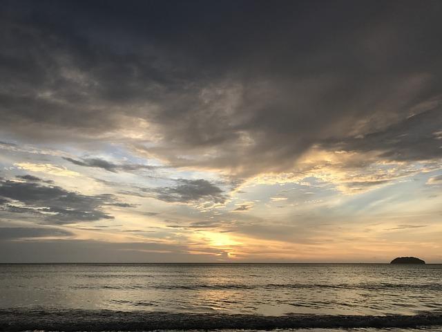 Beach, Sunset, Sabah