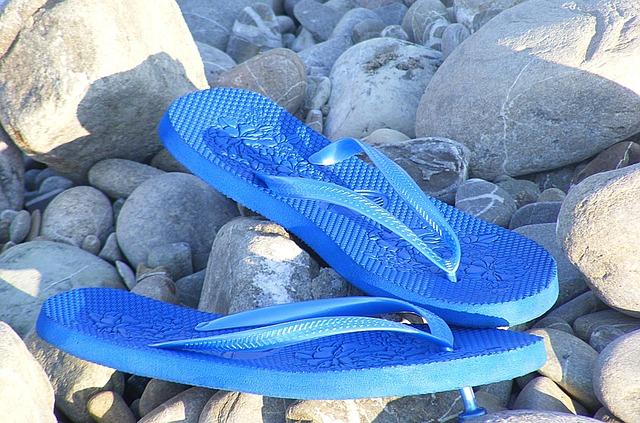 Sandals, Flip Flops, Sea, Sassi, Beach, Water