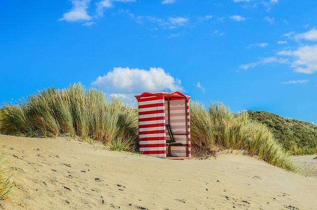 Blue Sky, Borkum, Beach, Clubs, Beach Tent, Sea Beach