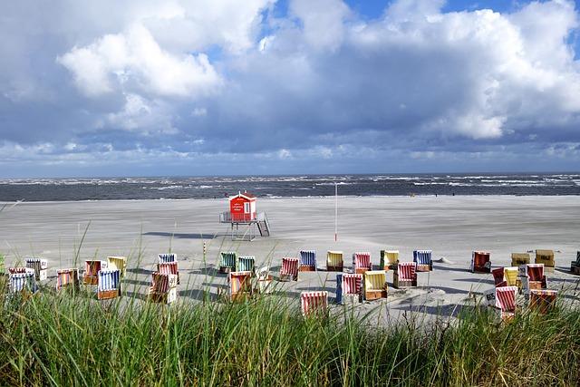 Beach Chair, Clubs, Dunes, Beach, Langeoog, Waters, Sea