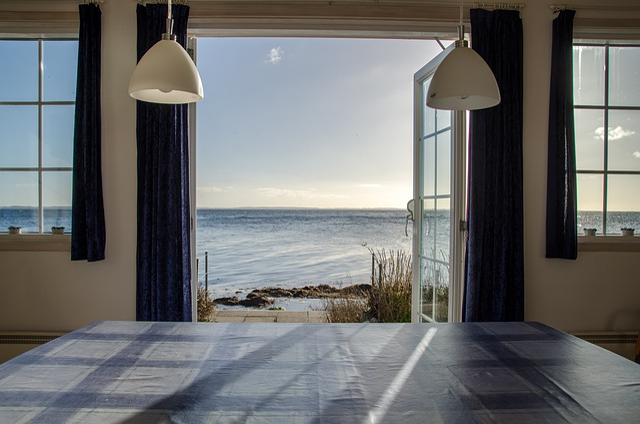 Beach, View, Autumn, Hdr, Sea, Cottage