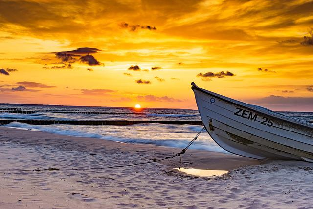 Waters, Sunset, Sea, Dusk, Beach, Sky, Sand, Nature