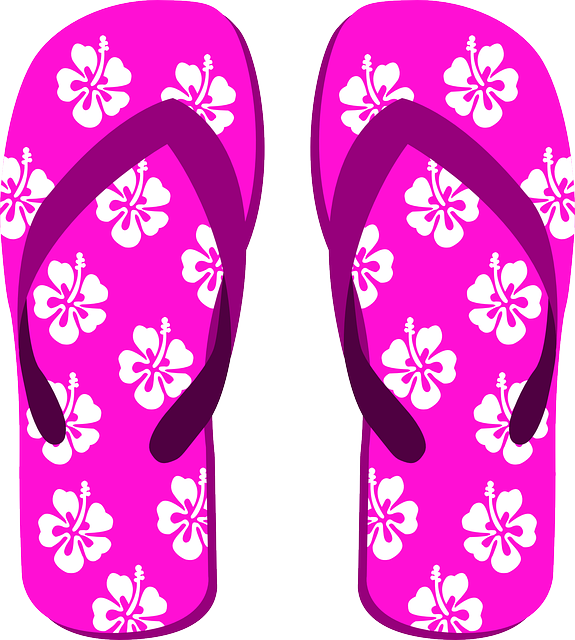 Flip Flops, Slippers, Beach Shoes, Heart, Summer