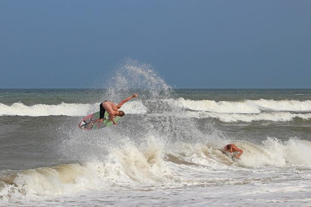 Skimboarding, Surfing, Beach, Skimboard, Ocean, Surf