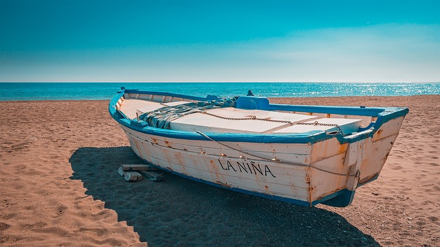 Andalusia, Boat, Beach, Sand, Spain
