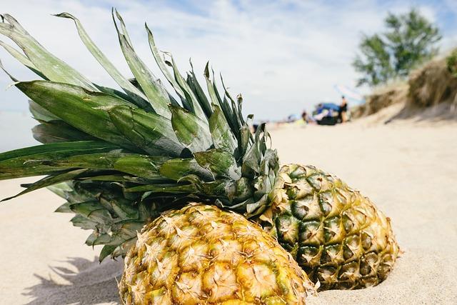 Pineapple, Sand, Beach, Summertime, Summer