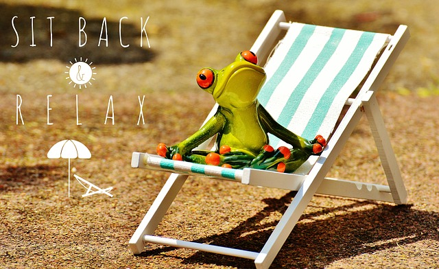 Sun Loungers, Beach, Frog, Summer, Sun, Relaxation