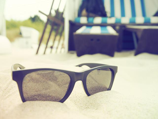 Holiday, Beach, Sun, Sunglasses, Beach Chair