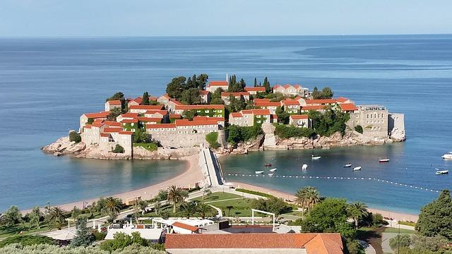 Montenegro, Sveti Stefan, Island, Vacations, Beach, Sun