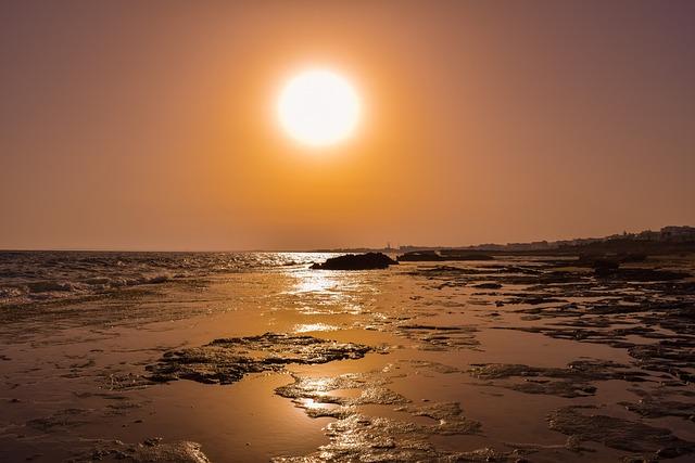 Sun, Sunset, Beach, Sunlight, Nature, Summer, Light