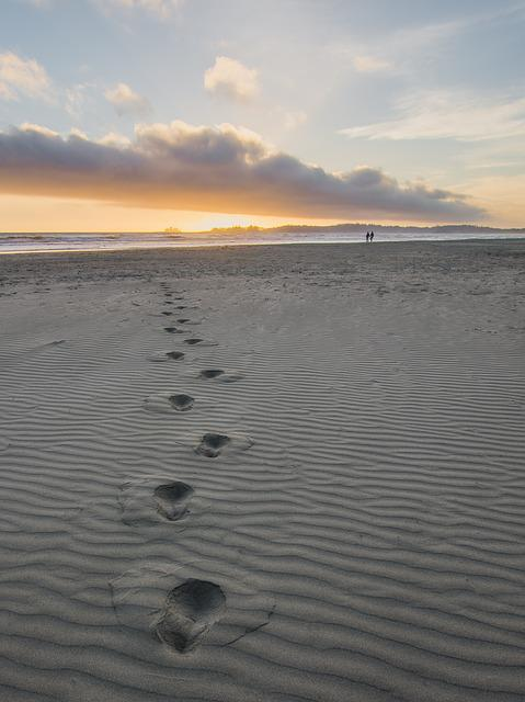 Beach, No Person, Sunset, Water, Sand, Seashore, Ocean