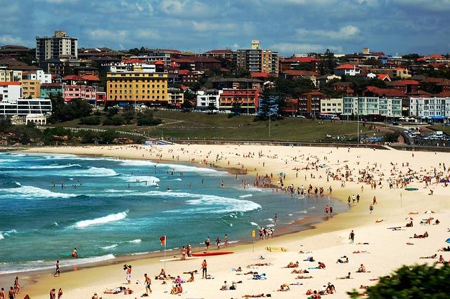 Bondi Beach, Sydney, Australia, Beach, Sea