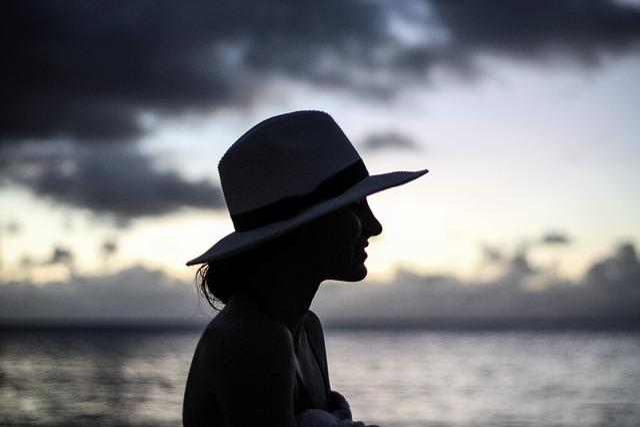 Beach, Ocean, Sea, Silhouette, Sky, Water, Woman