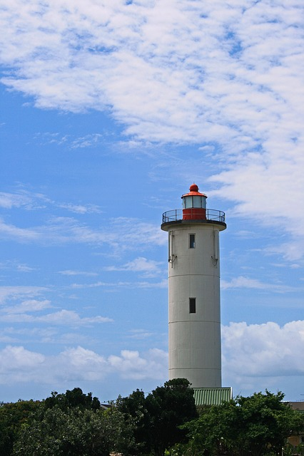 Lighthouse, White, Tall, Beacon, Landmark, Nautical