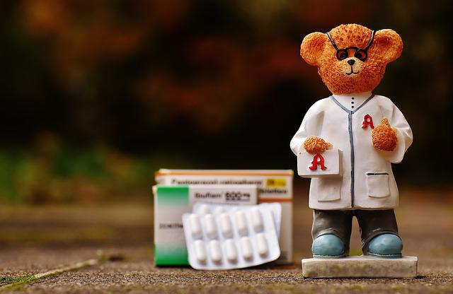 Bear, Profession, Pharmacist, Fig, Cute, Sweet, Funny